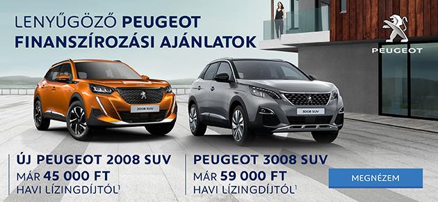 Lenyűgöző Peugeot finanszírozási ajánlatok