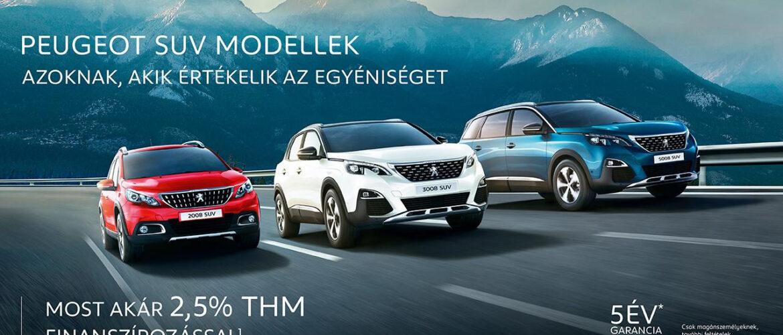 Peugeot SUV akció