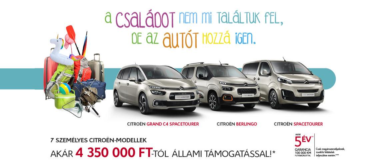 Citroën 7-személyes ajánlatok